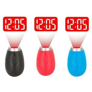 Digital Time Projection Clock Mini LED Watch Night Light Projector Flashlight ac