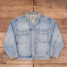 """Vintage pour homme levis 75502 1980 S Bleu Denim Workwear Trucker Jacket XL 46"""" R8651"""