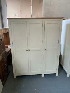 Simply Cotswold Cream Painted Triple Wardrobe Cotswold Co Clearance