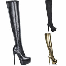 Unbranded Stiletto Heel Synthetic Leather Boots for Women