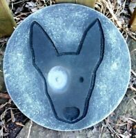 "Bull Terrier Dog plaque mold 10"" x 3/4"" thick plaster concrete casting mould"