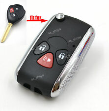Flip Key Case Upgrade Shell For Toyota 4Runner Matrix RAV4 Vemza Yaris Scion xB