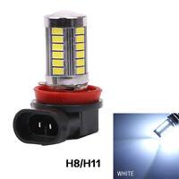 2x Bombillas H11 H8, 33 Led´s, luz blanca, 5050k, 2 unidades. #674