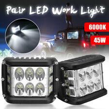 2Pcs Waterproof 4'' LED Work Light Spot Driving Lamp For Jeep SUV Truck Boat ATV