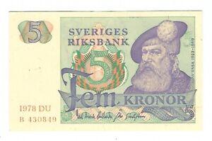 Sweden - 5 Kronor, 1978 !!UNC!!