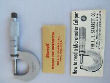 Starrett 230mrl 0 25mm Micrometer With Paperwork
