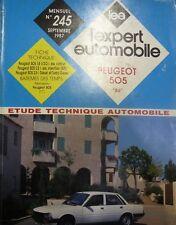 """Revue technique PEUGEOT 505 """"86"""" 1.8 2.0 2.2 ESSENCE 2.5D TD RTA EXPERT 245 1987"""