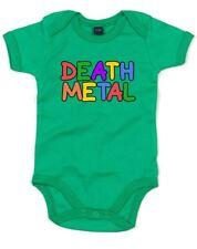 Brand88 - Death Metal Slogan Printed Baby Grow Designer Baby Grows Cool Gift