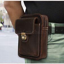 Fashion Men Genuine Leather Belt Purse Fanny Waist Bag Travel Hip Bum Phone Pack