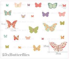 25 Farfalle bellissime Wall Stickers Colorati Baby Nursery Girls Room Decor