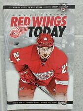 Red Wings Program  2015 Columbus vs. Detroit- Issue 5 Game 33 Tomas Tatar