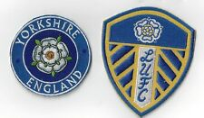 1SET OF LEEDS UTD AND YORKS  IRONON  PATCHES  BUY 2 SETS WE SEND THREE OF THESE
