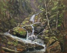 "Original Oil Painting, Landscape, SMALL WATERFALL  16x20"". Schelp"