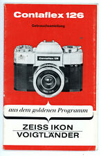 ZEISS IKON VOIGTLÄNDER Kamera Bedienungsanleitung CONTAFLEX 126 User Manual Y407