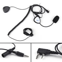 Finger PTT Motorcycle Helmet Headset MIC for Radio Kenwood Retevis TYT Baofeng G