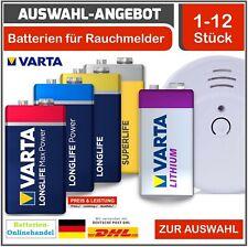 Varta 9V Block , Superlife , Longlife- Power , Max Power , Lithium Rauchmelder !