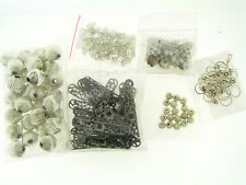 Destash Silver Plated Mixed Beads Findings Components Jewelry Reapir Making Lot