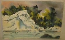 Vintage JOHN LOUGHLIN Listed Winter Marshes of CAPE ANN Landscape PAINTING