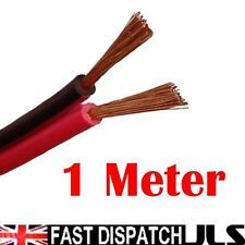 1M Red/Black Speaker Cable Wire Car Home Stereo Meter 14/0.2mm  Audio figure 8