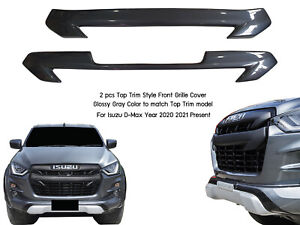 TOP TRIM GRAY GREY A02 FRONT GRILLE COVER FOR ISUZU ALL NEW D-MAX 2020 2021 ON