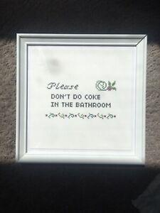 Funny Art Print for Bathroom Framed