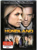 Homeland: The Complete Second Season (DVD, 2013, 4-Disc Set) New With Slip Cover