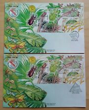1998 Malaysia Insect (Stamp Week 3rd Series) perf & imperf MS on 2 FDC (KL) rare