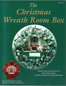 Dollhouse Miniature Christmas Wreath Room Box Instructional Book BOY142