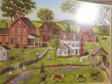 """Jigsaw Puzzle 500 Pcs. """"Chatting across the Fence"""" Bits & Pieces 18 x 24"""