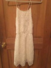 EVERLY Ivory Cream Off-White Halter Lace Dress Medium