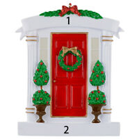 MAXORA Red Door Personalized Christmas Tree Ornament With Gift Box
