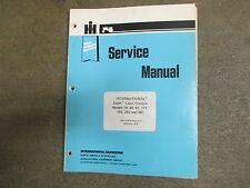 International Harvester 76 80 81 111 182 282 382 tractor service & repair manual
