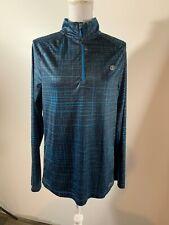 Mens Sb Tech Cool Play Long Sleeve Pullover 3/4 Zip Active Wear Shirt Jacket M