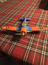 Vintage Hubley Kiddie Toy Airplane Fighter Bomber Toy