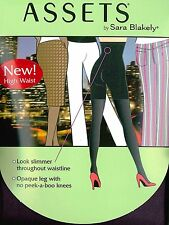 New ASSETS by Sara Blakely High-Waist Terrific Tights Hosiery In Black Berry 182
