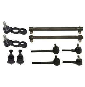 10 Pc Suspension Kit for Ford Lincoln Mercury Tie Rods Upper & Lower Ball Joints