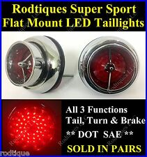 Flat Mount Red LED Taillights Roll Pan Bumper Custom Chevy Pickup Truck SS56