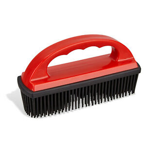Hand Held Rubber Lint and Pet Hair Removal Brush   Removes Pet Hair From Carpets