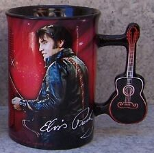Coffee Mug Entertainment Elvis Presley Guitar Handle NEW 16 ounce cup w gift box