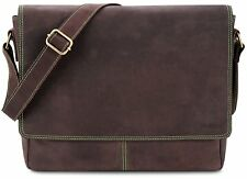 0648e46fea9a8 LEABAGS Oxford Messenger Bag aus echtem Büffel-Leder im Vintage Look
