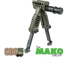 MAKO FAB DEFENSE FOREGRIP BIPOD w / INCORPORATED TACTICAL LIGHT T-PODSL OD-GREEN
