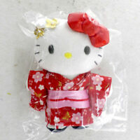Sanrio Hello Kitty Mascot Holder Japanese Style Outfit