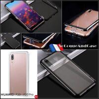 Etui coque housse Bumper Magnétique + Verre Trempé Glass Case Huawei P20 / Pro