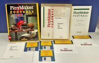 Playmaker Football Ibm/tandy Ms-dos Vintage PC Big Box Game Rare Complete Tested