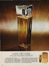 Publicité Advertising  WEIL de WEIL parfum
