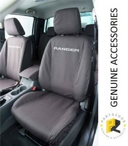 Ford Ranger PXII PXIII Genuine Black Canvas Front Seat Covers Set VJL5Z9963812B