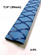 "4 Ft. Blue 7/8"" 22mm 2:1 Ratio Heat Shrink Sleeve Wrap Tubing Rod handle Cork"