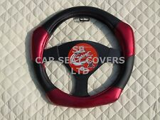 i - TO FIT AN ISUZU TROOPER, STEERING WHEEL COVER, CARBON FIBER LOOK R1 RED