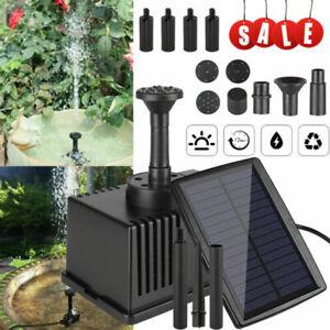 180L/H Solar Power Fountain Water Pond Filter Pump Garden Submersible Fish Tank