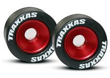 Traxxas 1/10 E-Revo Brushless * 2 WHEELIE BAR TIRES & WHEELS - RED * 5186